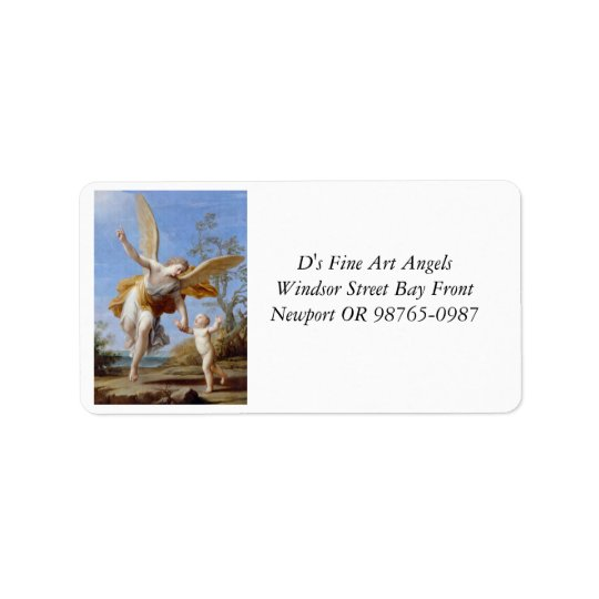 By the Seashore Angel and Child Address Label