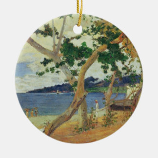 By the Seashore, Martinique, 1887 (oil on canvas) Christmas Ornament