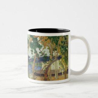 By the Seashore, Martinique, 1887 (oil on canvas) Two-Tone Coffee Mug
