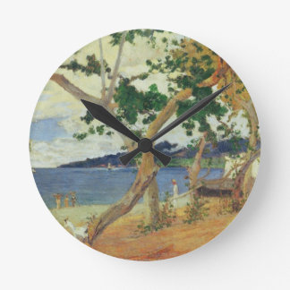 By the Seashore, Martinique, 1887 (oil on canvas) Wall Clock