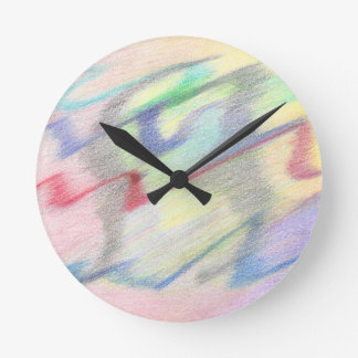 By the Seaside Colorfully Abstract Clock