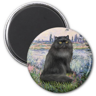 By the Seine - black Persian cat Magnet