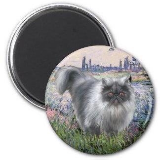 By the Seine - Blue Smoke Persian cat Fridge Magnet