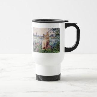 By the Seine - Cream Sphynx cat Travel Mug