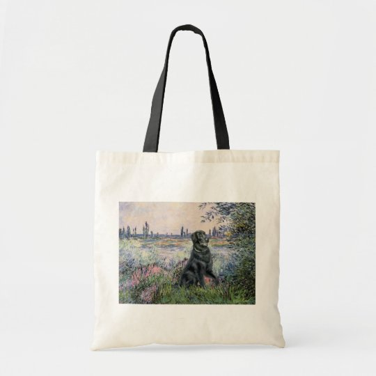 By the Seine - Flat Coated Retriever Tote