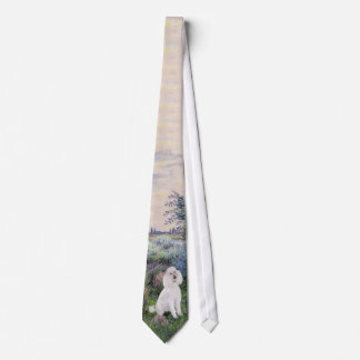 By the Seine (Monet) - Standard Poodle (W) Tie