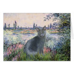 By The Seine- Russian Blue cat 2 Cards