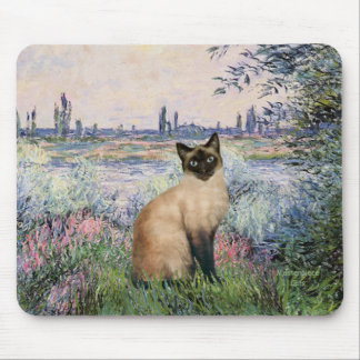 By the Seine - Seal Point Siamese cat Mouse Pad