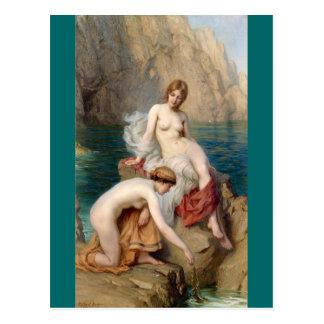 By The Summer Sea- Draper Postcard