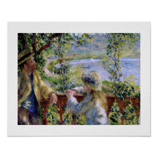 """""""By the Water"""" by by Pierre-Auguste Renoir Poster"""