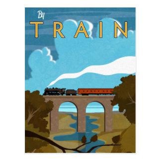 By Train Postcard