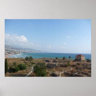 Byblos Lebanon, Ocean View Poster