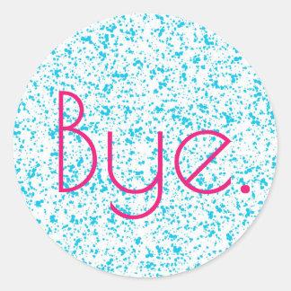 Bye Blue Dalmatian Print Stickers