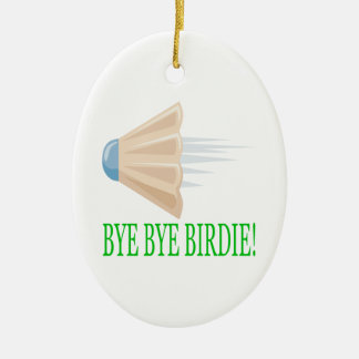 Bye Bye Birdie Ceramic Oval Decoration