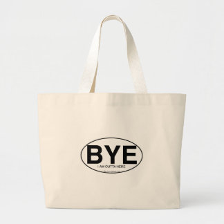 BYE Euro Sticker Style Large Tote Bag