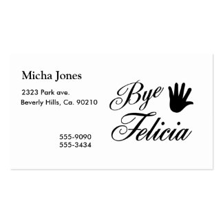 Bye Felicia Fancy Waving Hand Pack Of Standard Business Cards