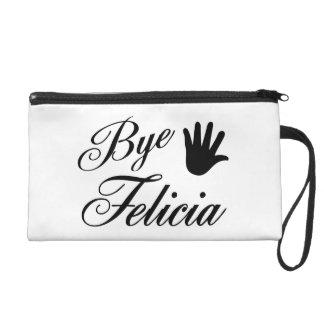 Bye Felicia Fancy Waving Hand Wristlet Purses