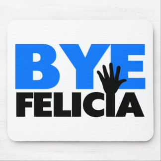 Bye Felicia Hand Wave Bold Blue Mouse Pad