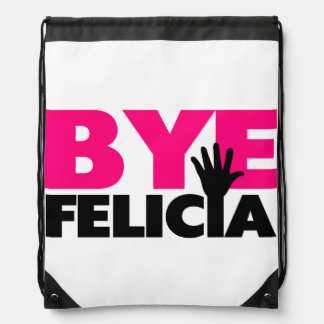 Bye Felicia Hand Wave Hot Pink Backpack