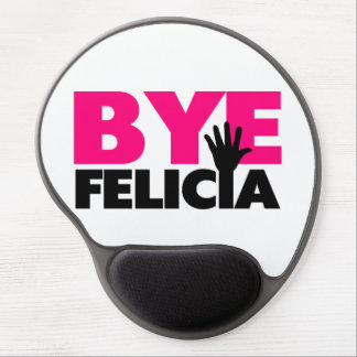 Bye Felicia Hand Wave Hot Pink Gel Mouse Pad