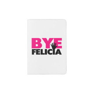 Bye Felicia Hand Wave Hot Pink Passport Holder