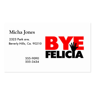 Bye Felicia Hand Wave Pack Of Standard Business Cards