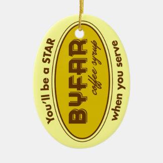 Byfar Coffee Syrup Logo Ornament