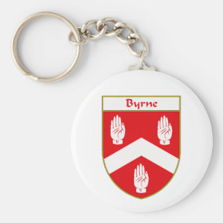 Byrne Coat of Arms/Family Crest Basic Round Button Key Ring