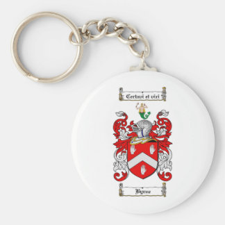 BYRNE FAMILY CREST -  BYRNE COAT OF ARMS KEY RING