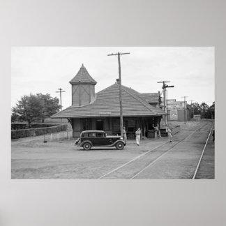 Byromville Train Station, 1930s Poster