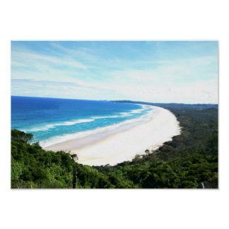 Byron Bay Beach View Poster