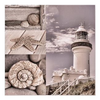 Byron Bay Lighthouse 13 Cm X 13 Cm Square Invitation Card