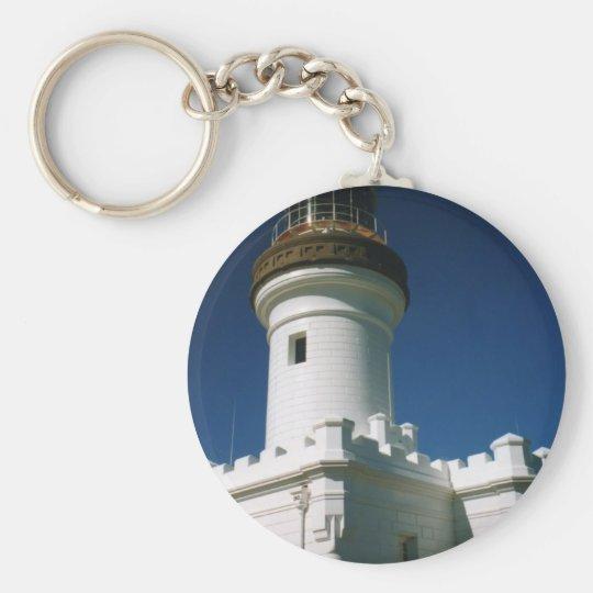Byron Bay Lighthouse Basic Round Button Key Ring