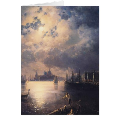 Byron in Venice by Ivan Aivazovsky Greeting Cards