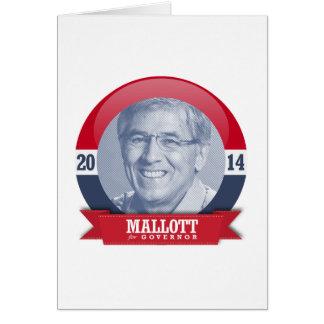 BYRON MALLOTT CAMPAIGN GREETING CARD