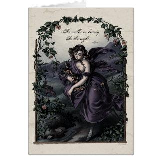 Byron She Walks in Beauty Victorian Art Card
