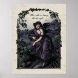 """Byron """"She Walks in Beauty"""" Victorian Art Poster"""
