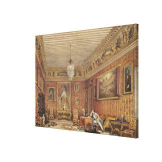Byron's Room in Palazzo Mocenigo, Venice (w/c on p Canvas Print