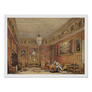 Byron's Room in Palazzo Mocenigo, Venice (w/c on p Poster