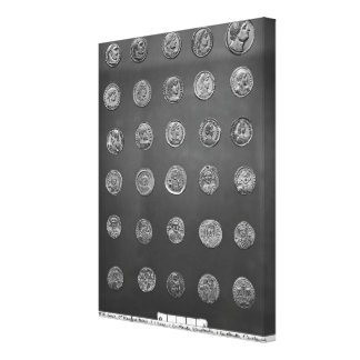 Byzantine and Roman coins, 04-10th century Stretched Canvas Prints