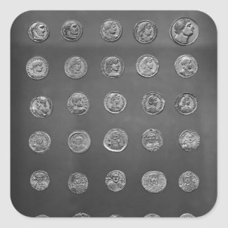 Byzantine and Roman coins, 04-10th century Square Sticker