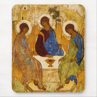 Byzantine Angels at a Table Mousepads