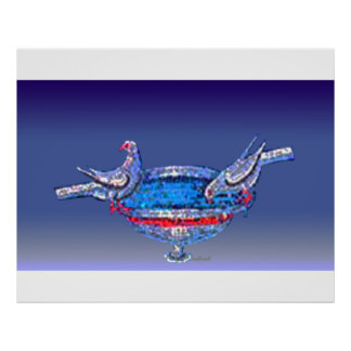 Byzantine Bird Bath Poster