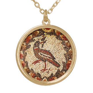 Byzantine Bird Gold Plated Necklace