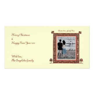 Byzantine Border Customized Photo Card