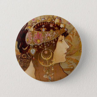 Byzantine Brunette, 1897 6 Cm Round Badge