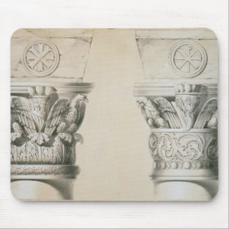 Byzantine capitals from columns in the nave of the mouse mat