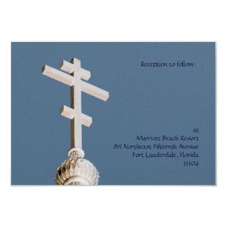 Byzantine Church Wedding Reception Invites