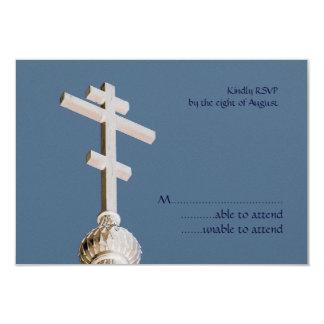 Byzantine Church Wedding RSVP Announcements