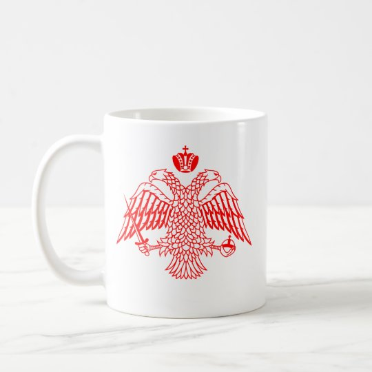 Byzantine Cross & Eagle Coffee Mug